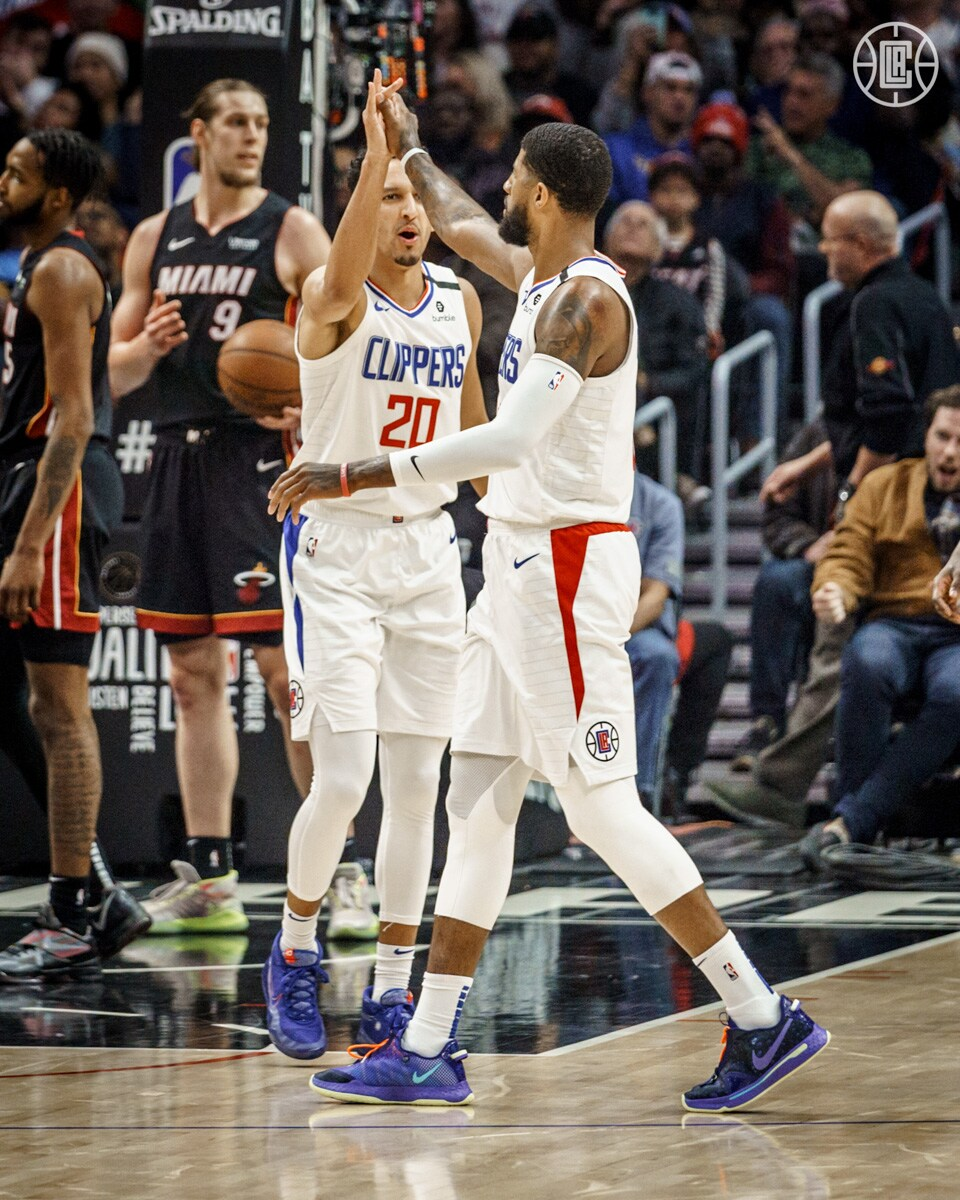 Clippers Lose Iguodala to the Heat but Win the Game, 128-111