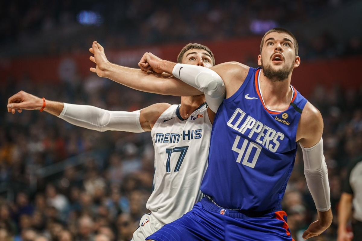 Ivica Zubac Jonas Valanciunas Memphis Grizzlies LA Clippers