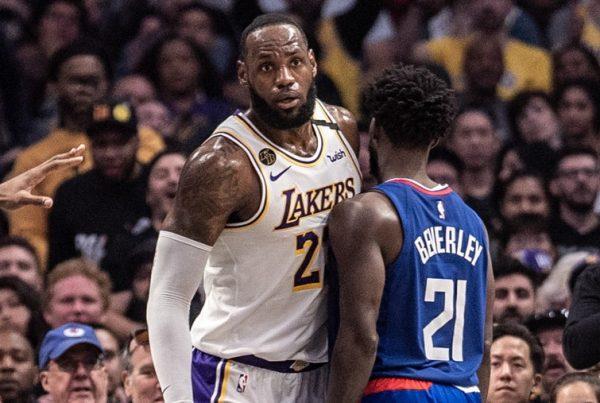 LeBron James Los Angeles Lakers Patrick Beverley LA Clippers
