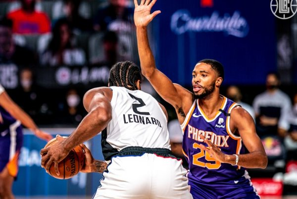 Kawhi Leonard Mikal Bridges LA Clippers Phoenix Suns NBA Orlando Bubble