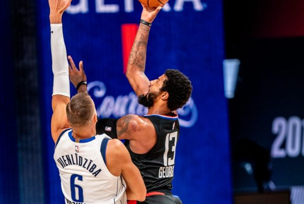 Dallas Mavericks LA Clippers Kristaps Porzingis Paul George Game 1 NBA Playoffs