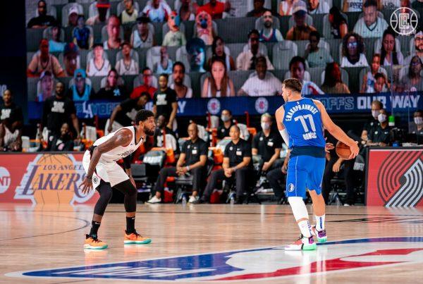 Paul George Luka Doncic LA Clippers Dallas Mavericks NBA Playoffs Game 5